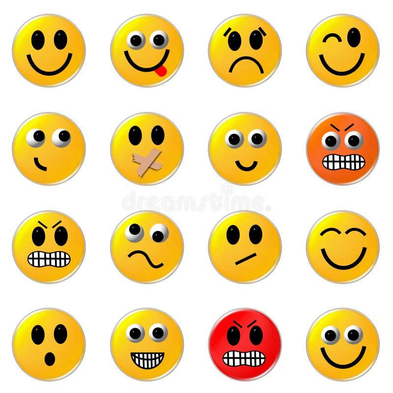 smileys stock illustrationer