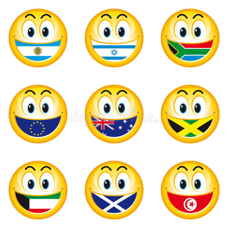 Smileys_flags_5 royalty illustrazione gratis