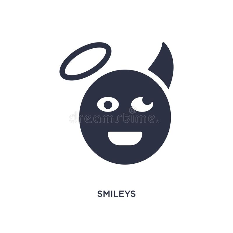 smileys icon on white background. Simple element illustration from ethics concept royalty free illustration