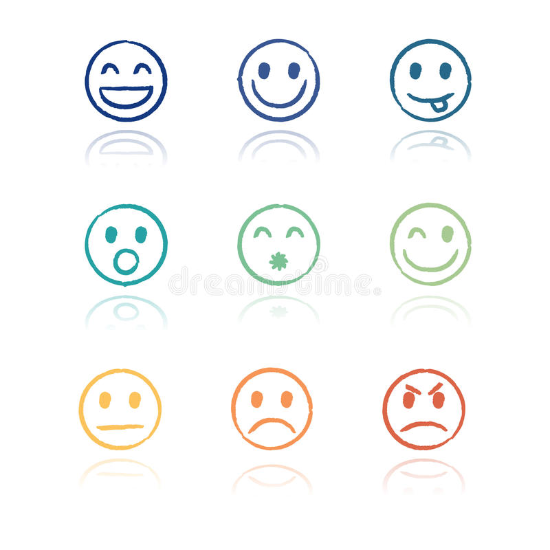 Smileys vector illustration