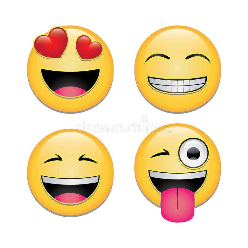 Smileys stock illustration