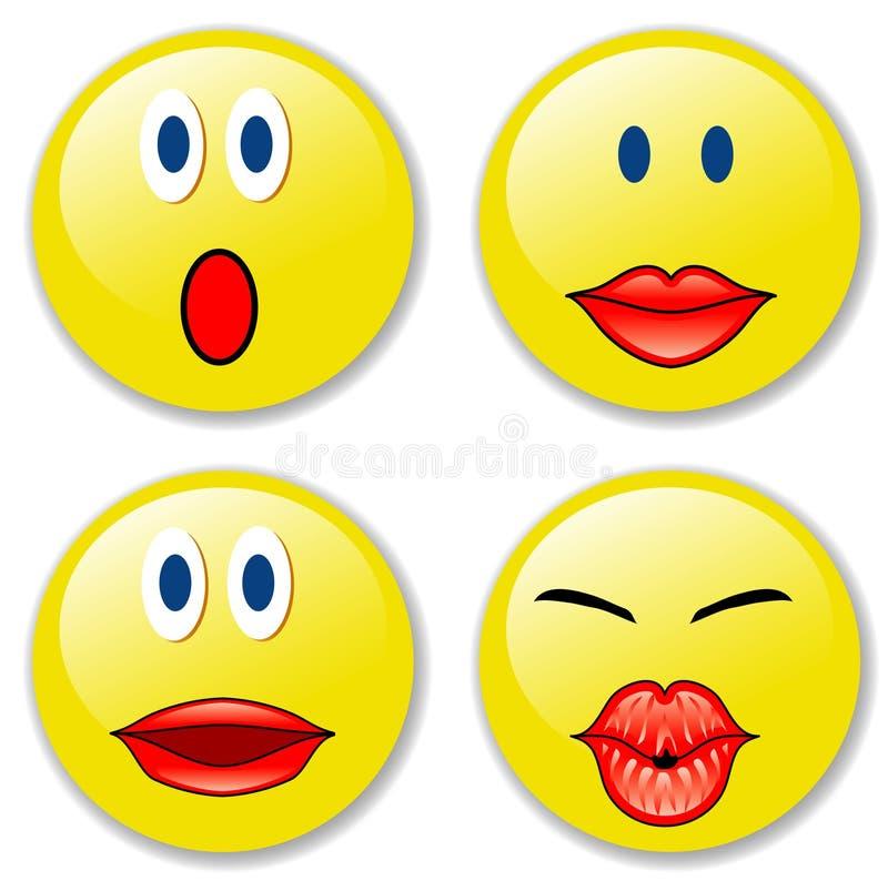 Smileys1 illustration stock