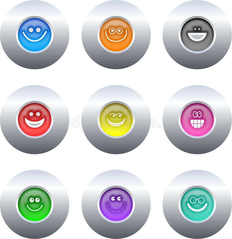 Smilie buttons royalty free illustration