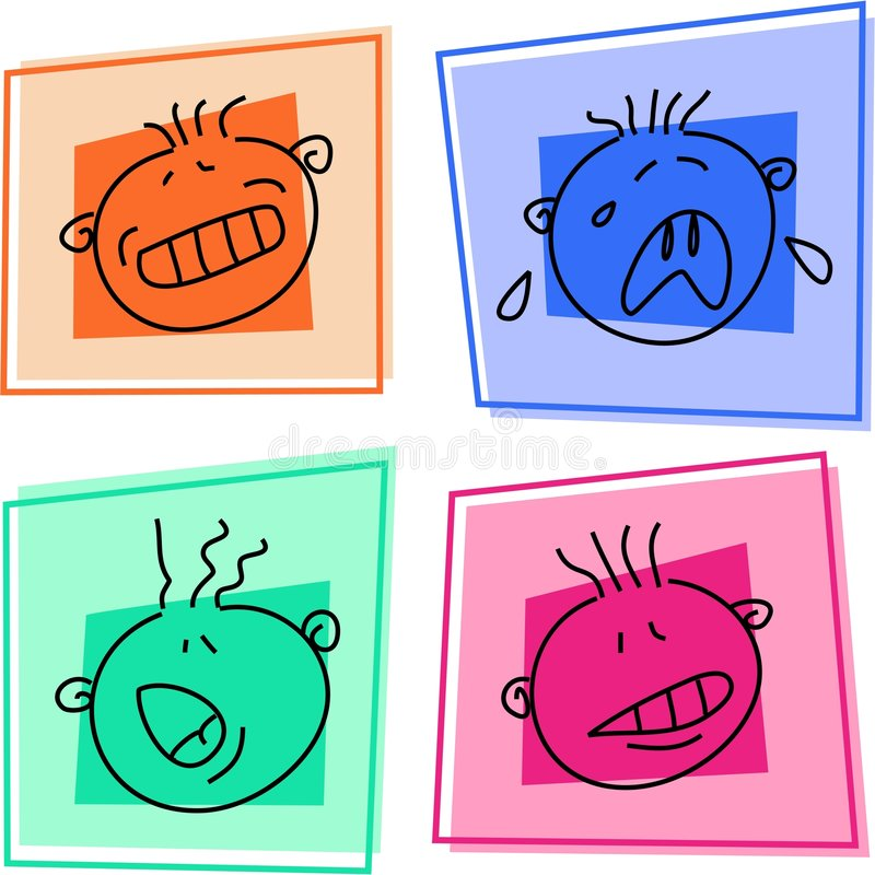 Download Smilie icons stock vector. Image of emotions, faces, heads - 867060
