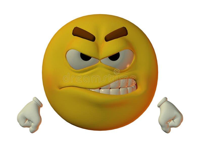 Smilie maschio arrabbiato royalty illustrazione gratis