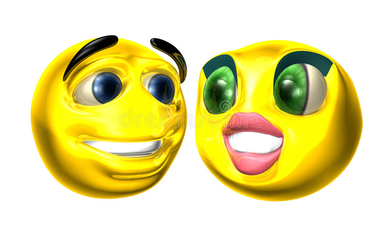 Smilies stock illustratie