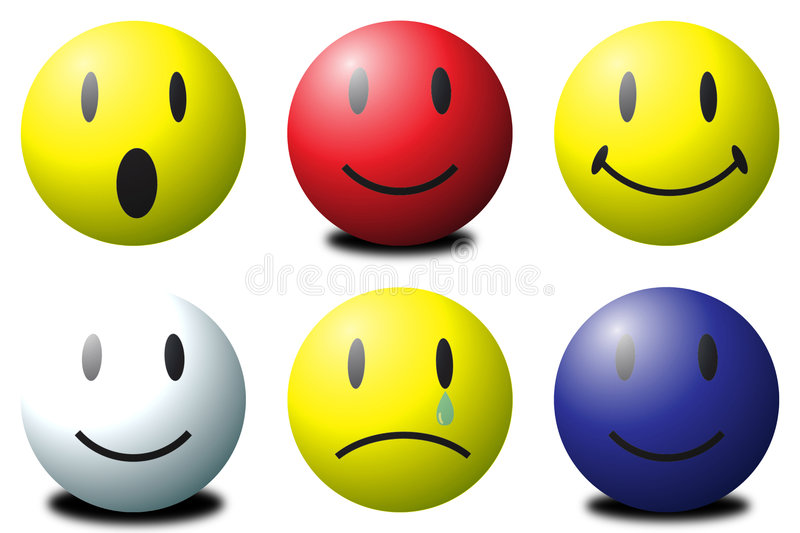 Download Smilies stock illustration. Illustration of face, ball - 5472547