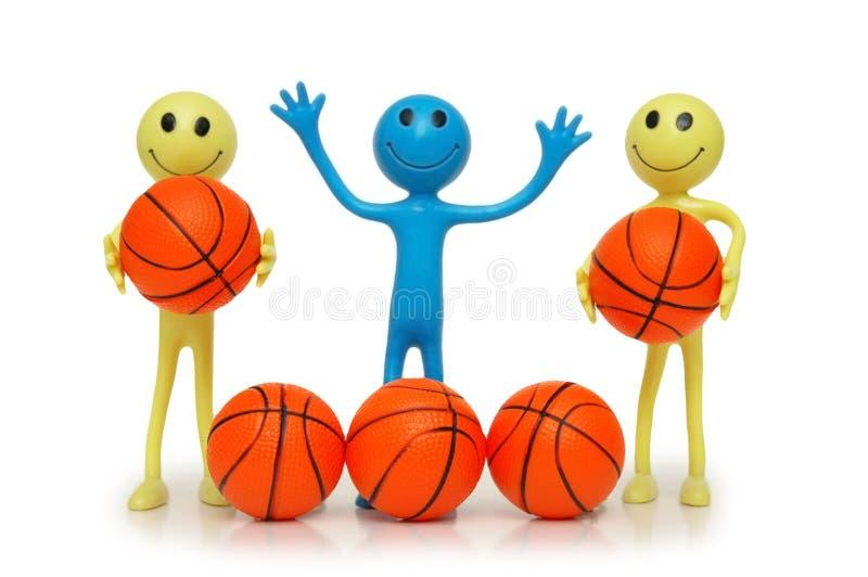 Smilies com basquetebol fotografia de stock royalty free