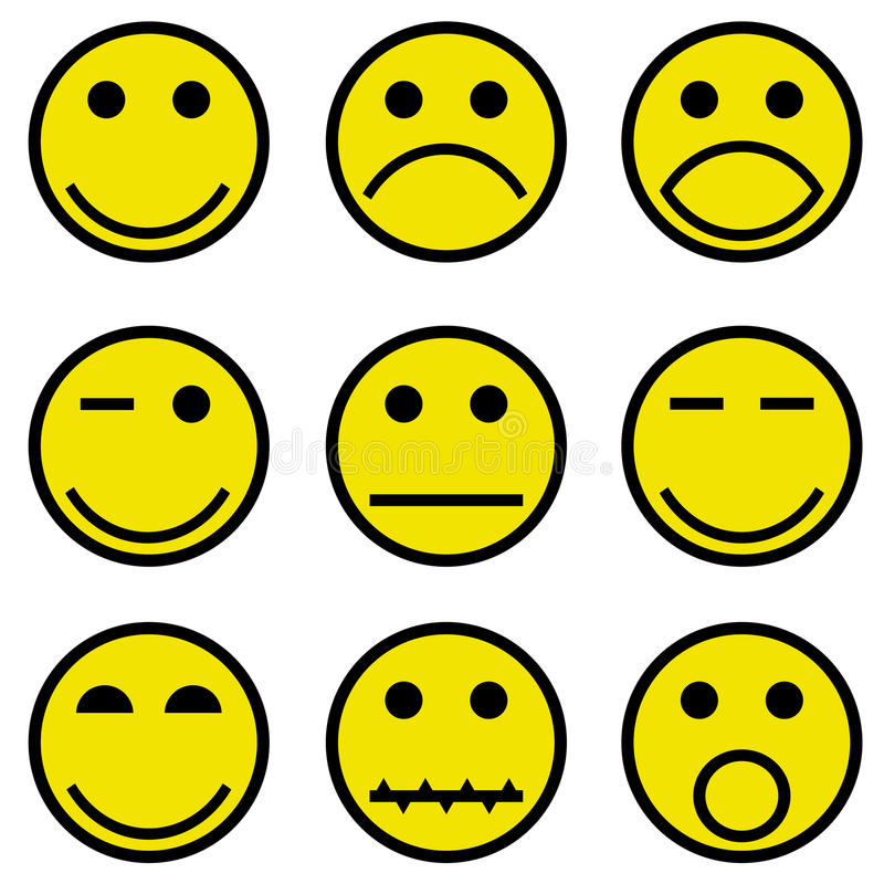 Smilies and faces stock illustration