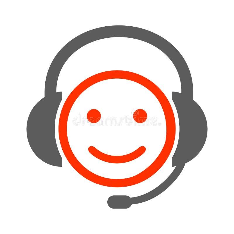 Smilies positifs d'expéditeur, émotion souriante heureuse, par des smilies, émoticône de bande dessinée illustration libre de droits