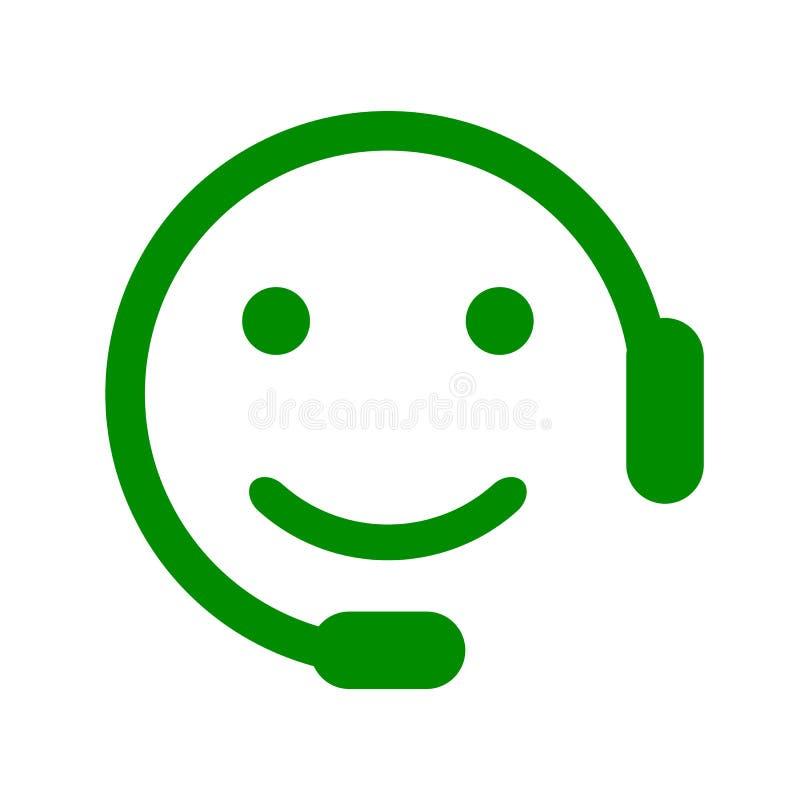 Smilies positifs d'expéditeur, émotion souriante heureuse, par des smilies, émoticône de bande dessinée illustration de vecteur