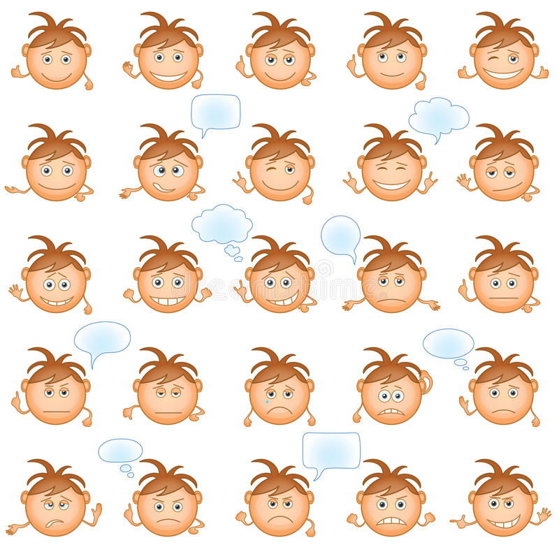 Download Smilies, set stock vector. Image of icon, circle, mood - 26633879