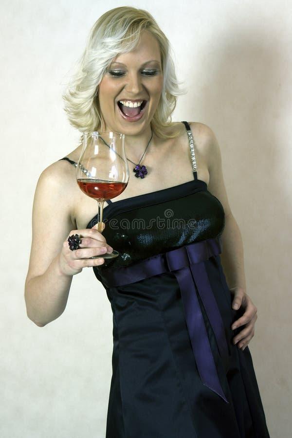 Download Smilig girl stock image. Image of drink, fashion, elegant - 24026093