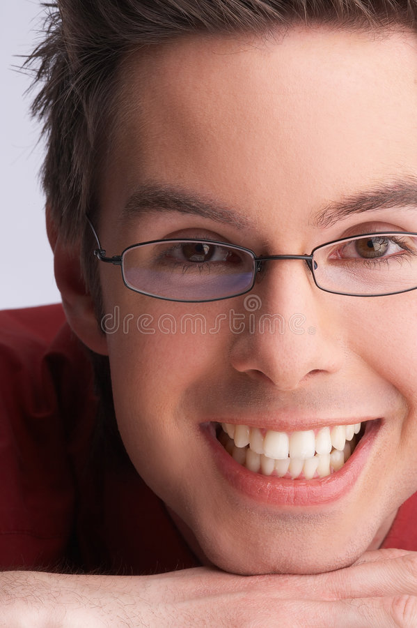 Download Smiling stock image. Image of portraits, glasses, modell - 713791