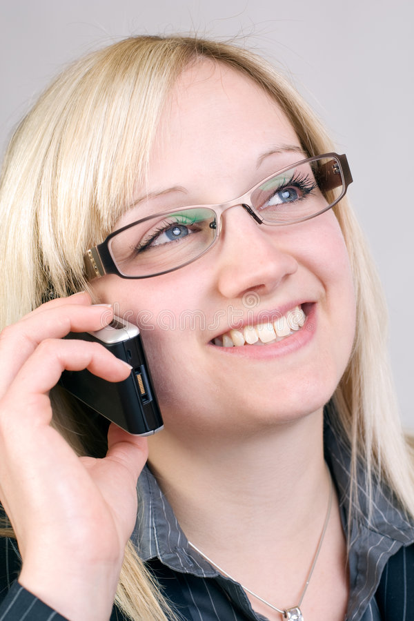 Download Smiling stock image. Image of cellphone, phone, center - 9168645