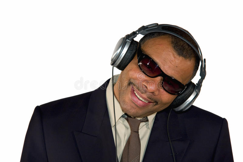 Download Smiling African-American Man With Headphones Royalty Free Stock Image - Image: 13109746