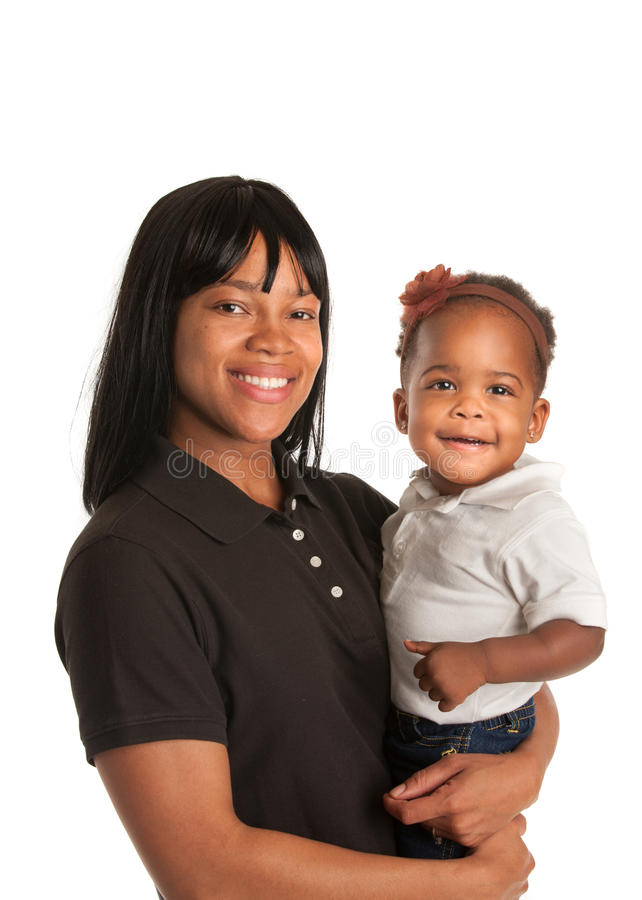 Download Smiling African American Mom Holding Baby Girl Stock Image - Image: 26014639