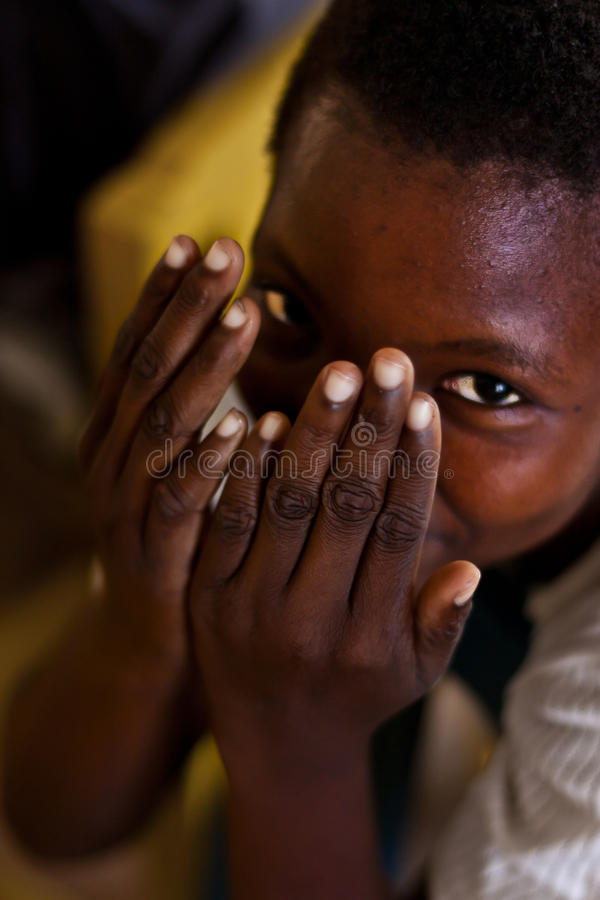 Smiling african child stock image