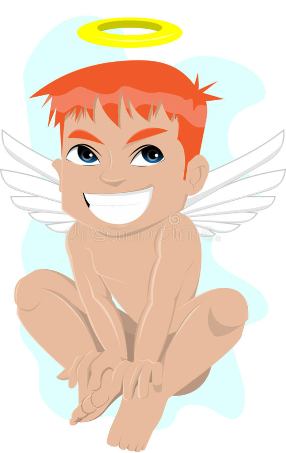 Download Smiling angel stock illustration. Image of happy, innocent - 21443741