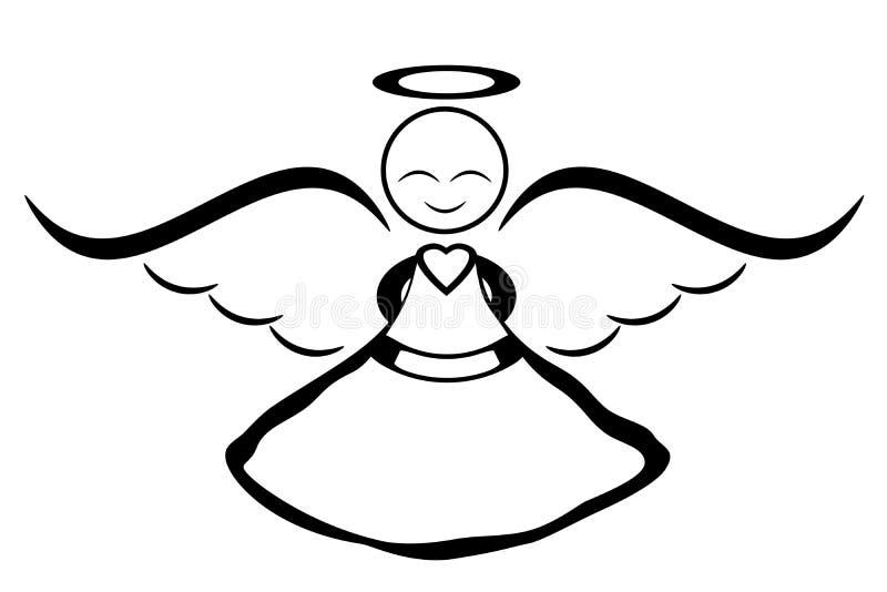 Smiling angel royalty free illustration