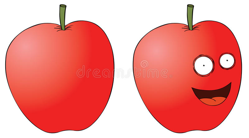 Download Smiling apple stock vector. Illustration of vegan, sweet - 27362340