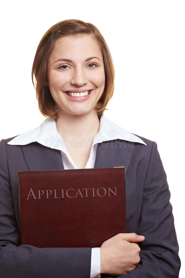 Download Smiling Applicant With Application Stock Photography - Image: 25119752