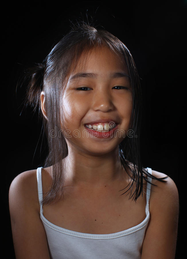 Download Smiling asia girl stock photo. Image of child, asian - 10407764