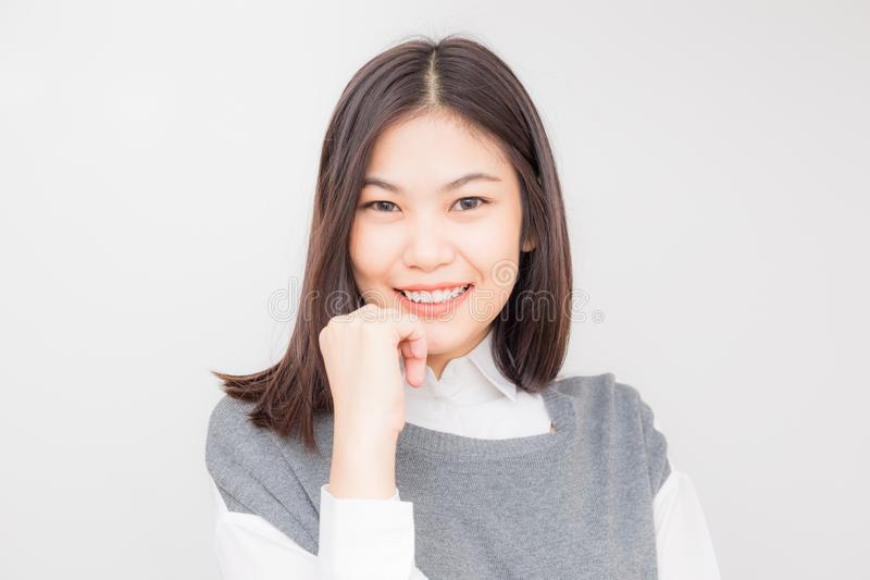 Smiling asian cute women heathy life concept stock photography