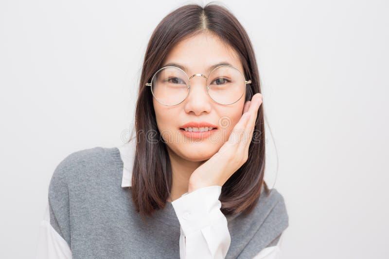 Smiling asian cute women heathy life concept royalty free stock photos