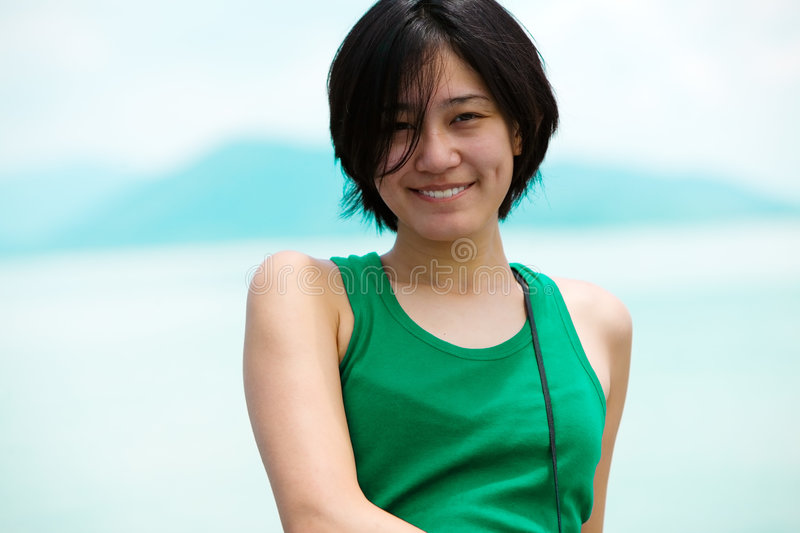 Download Smiling Asian girl stock image. Image of attractive, chinese - 4320425
