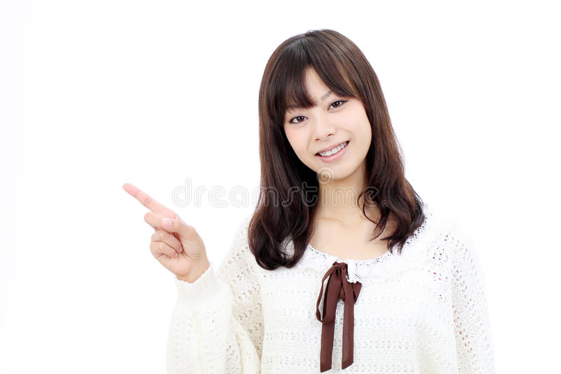 Download Smiling asian woman stock photo. Image of girl, indicate - 21872944