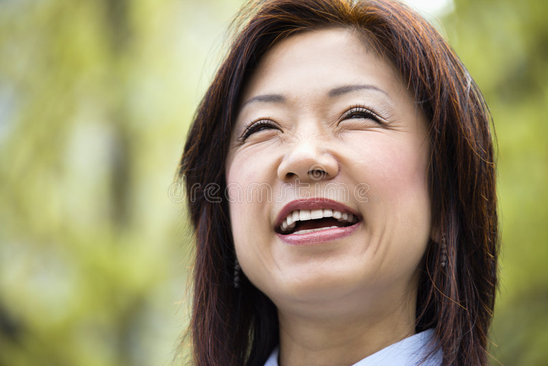Download Smiling Asian woman stock photo. Image of happiness, color - 4997176