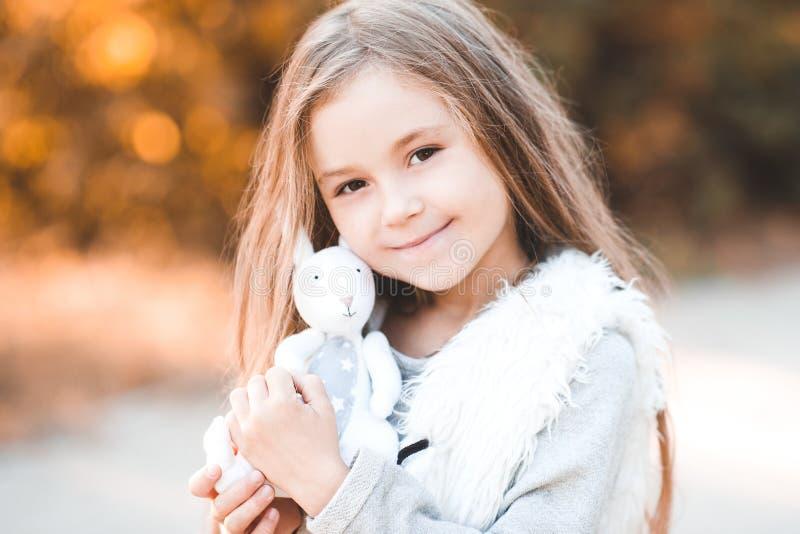 Stylish child outdoors stock image
