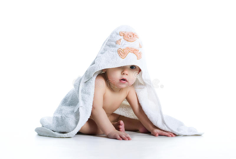 Download Smiling Baby Under The Towel Stock Photo - Image: 13543256