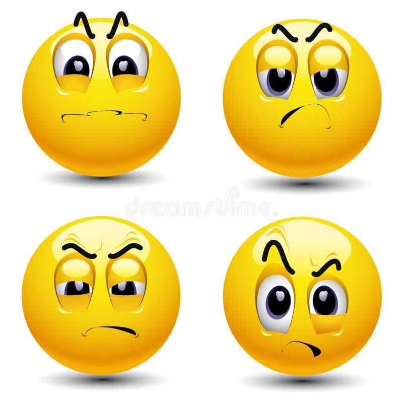Smiling balls stock illustration