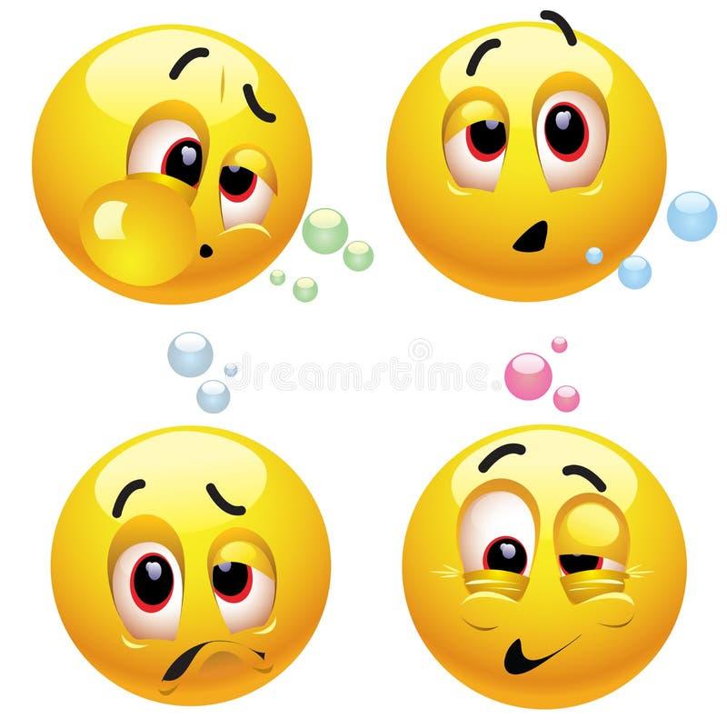 Smiling balls royalty free illustration