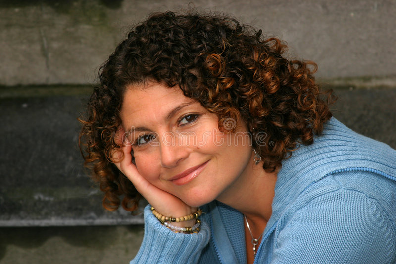 Download Smiling beauty stock image. Image of curly, model, curls - 197343