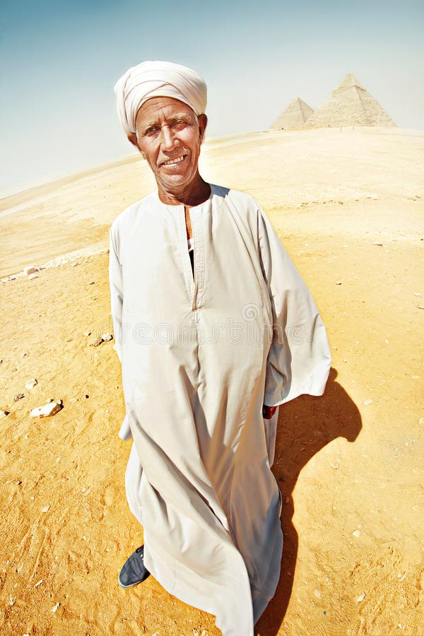 Portrait of a bedouin stock images