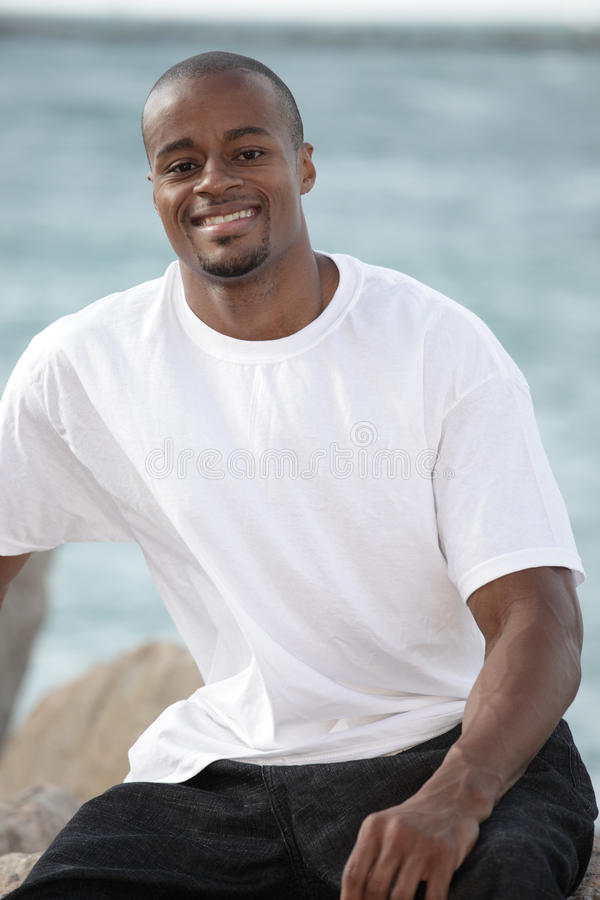 Smiling black man royalty free stock image