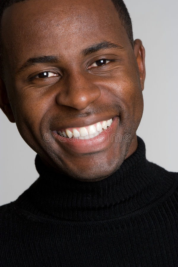 Smiling Black Man stock photo. Image of person, close ...