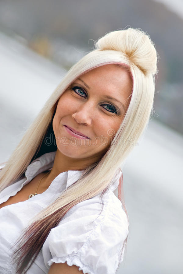 Free Smiling Blonde Girl Stock Photo - 11081700