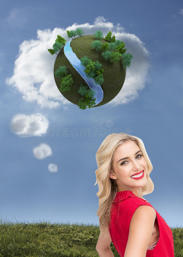 Download Smiling Blonde Standing Hands On Hips Stock Illustration - Image: 37076869