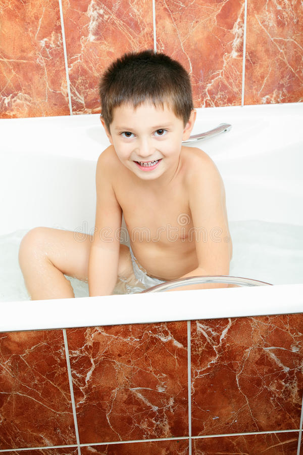 Download Smiling boy in bath stock image. Image of child, bathroom - 20721553