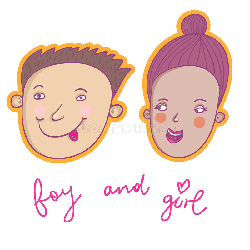 Smiling Boy And Girl Royalty Free Stock Photo