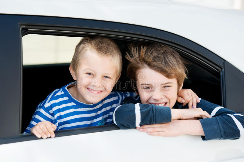Smiling boys royalty free stock image