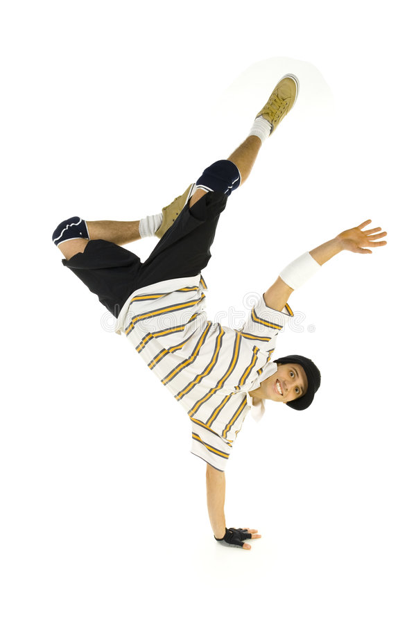 Download Smiling breakdancer stock image. Image of front, freestyle - 3950587
