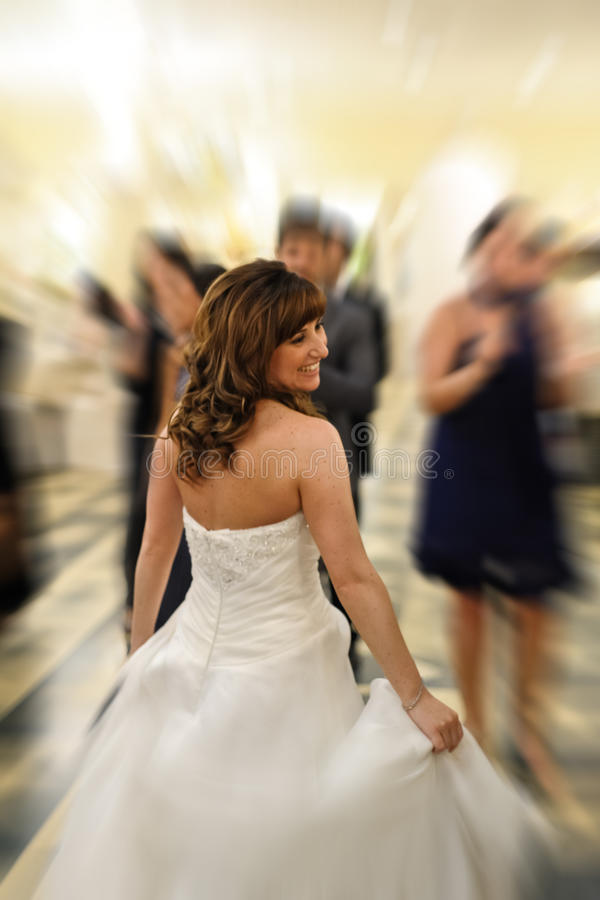 Smiling bride. Picture of beautiful smiling bride