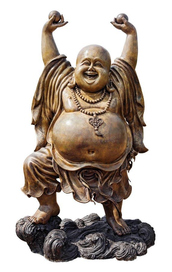 Smiling Buddha stock image