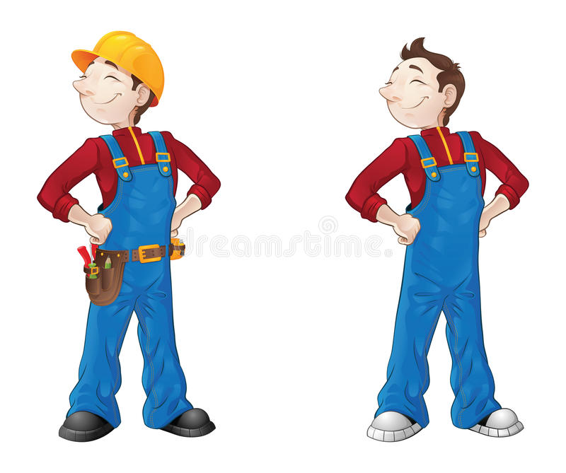 Smiling builder stock images