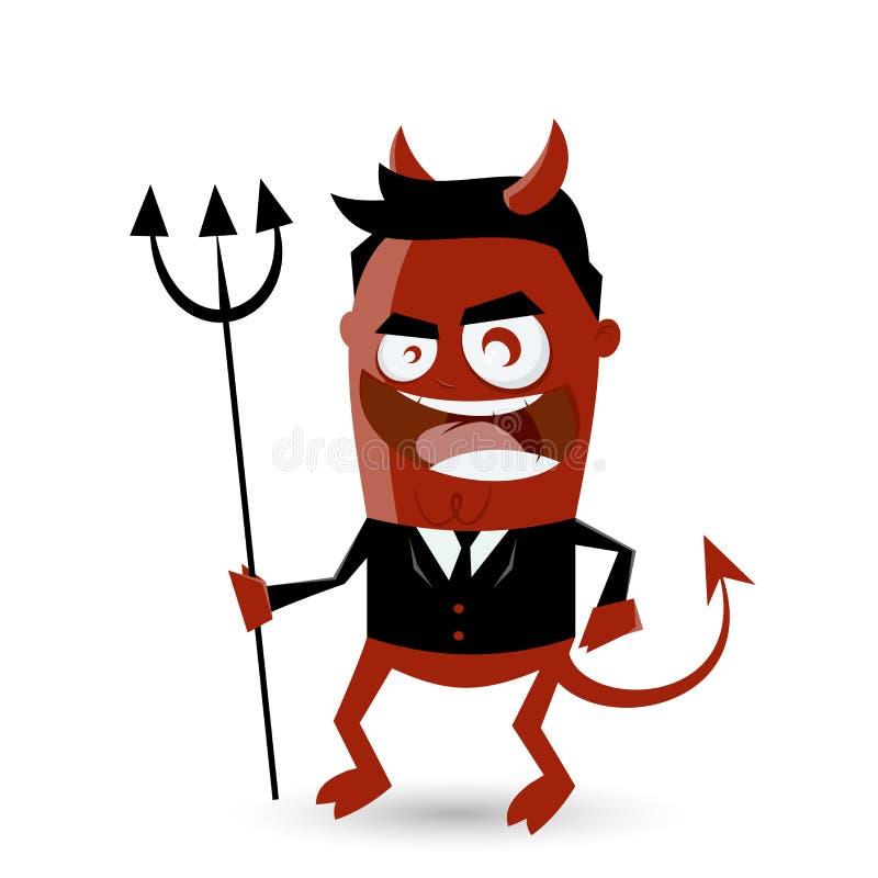 Smiling business devil. Illustration of a smiling business devil vector illustration